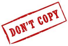 Não copie o selo Foto de Stock Royalty Free
