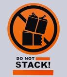 Não empilhe o sinal Esta foto foi tomada da placa do sinal, ele é n fotos de stock royalty free