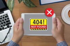 Não encontrou problema de advertência da falha de 404 erros Imagens de Stock Royalty Free