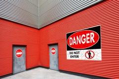 Não entre no salão industrial Foto de Stock Royalty Free