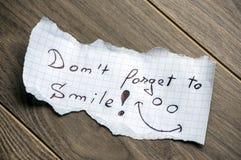 Não esqueça sorrir Foto de Stock