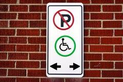 Não estacione, este ponto para a cadeira de roda Imagens de Stock Royalty Free