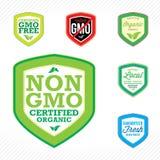 Não etiquetas de GMO Fotografia de Stock