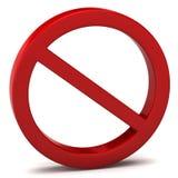Não faz o sinal de aviso ilustração do vetor