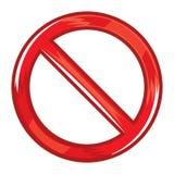 Não faz o sinal de aviso ilustração royalty free