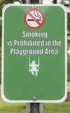Não fumadores no campo de jogos Imagem de Stock