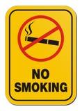Não fumadores - sinal de aviso Imagens de Stock Royalty Free