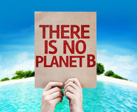 Não há nenhum cartão do planeta B com um fundo da praia Imagens de Stock Royalty Free