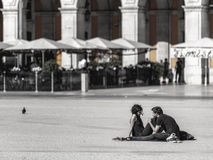 Não há nenhum melhor lugar para experimentar este romance do que Lisboa! Fotografia de Stock Royalty Free