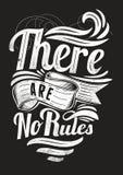 Não há nenhuma regra ilustração stock