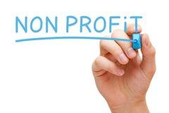Não marcador do azul do lucro fotos de stock royalty free