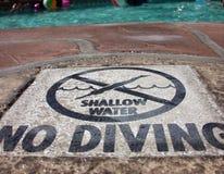 Não mergulhe! Imagens de Stock