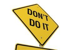 Não o faça sinal de estrada Imagens de Stock
