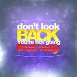 Não olhe para trás Você não está indo essa maneira Foto de Stock Royalty Free
