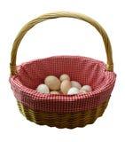 Não põr todos seus ovos em uma cesta imagens de stock royalty free