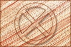não pare o sinal na placa de madeira Imagens de Stock Royalty Free