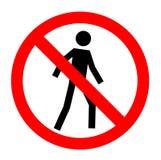 Não permitido, nenhum sinal da entrada, ilustração royalty free