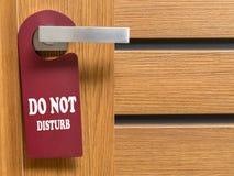 Não perturbe o gancho de porta Foto de Stock