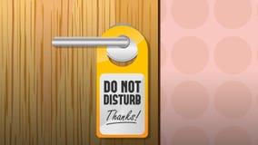 Não perturbe o sinal ilustração stock