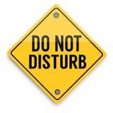 Não perturbe o sinal de aviso, cartaz abstrato do negócio da qualidade super ilustração royalty free