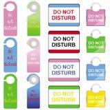 Não perturbe os sinais ajustados Imagem de Stock Royalty Free