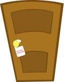 Não perturbe a porta ilustração do vetor