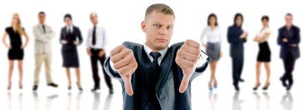 NÃO! povos com CEO irritado Foto de Stock