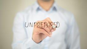Não-preparado, escrita do homem na tela transparente Imagens de Stock Royalty Free