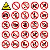 Não proibiu nenhum sinal da parada Fotos de Stock