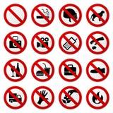 Não proibiu nenhum sinal do batente Fotografia de Stock Royalty Free