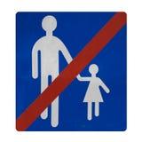 Não sequestre crianças aqui Foto de Stock