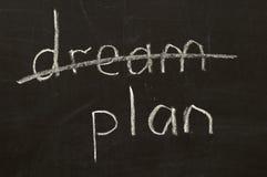 Não sonhe, para planear! Imagens de Stock