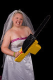 Não suje com a noiva Fotografia de Stock
