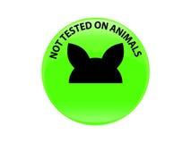 Não testado no ícone do sinal dos animais Símbolo não testado Foto de Stock