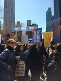 Não um mais, março por nossas vidas, protesto para a reforma da arma, NYC, NY, EUA Foto de Stock Royalty Free