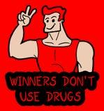 Não use a mensagem das drogas Fotos de Stock Royalty Free