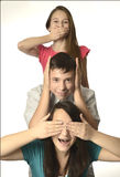 Não veja não se ouvem não falam famílias fotografia de stock royalty free