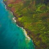 Nā Pali Coast Aerial stock images