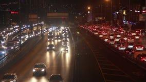 NÄ°GHT, cidade de Istambul do curso, em dezembro de 2016, Turquia video estoque