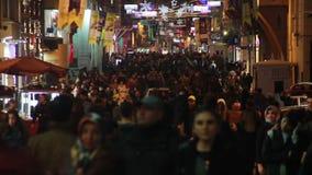 NÄ°GHT, Natal, cidade de Istambul, em dezembro de 2016, Turquia video estoque