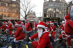 Nächstenliebe-Fahrradfahrt London 2017 BMX Sankt Stockfotografie