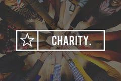 Nächstenliebe-Wohlfahrts-Spenden-Großzügigkeits-Unterstützung geben Hilfskonzept stockfotografie