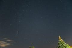 Nächtlicher Himmel über Österreich Stockbild