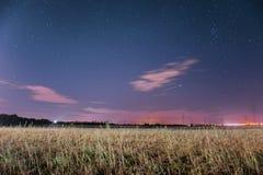 Nächtlicher Himmel über Österreich Lizenzfreie Stockfotos