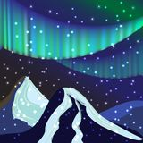 Nächtlicher Himmel, Aurora Borealis, Nordlichteffekt, realistische Co stockfoto
