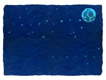 Nächtlicher Himmel - blauer Plasticinehintergrund mit Raum für Text stockfoto