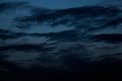 Nächtlicher Himmel, Halloween-Hintergrund Stockbild