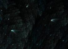 Nächtlicher Himmel mit fallenden Sternen Stockfotos
