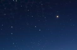 Nächtlicher Himmel mit Sternen Stockfotografie