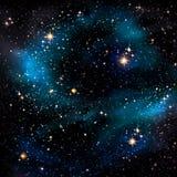 Nächtlicher Himmel mit Sternen lizenzfreie abbildung